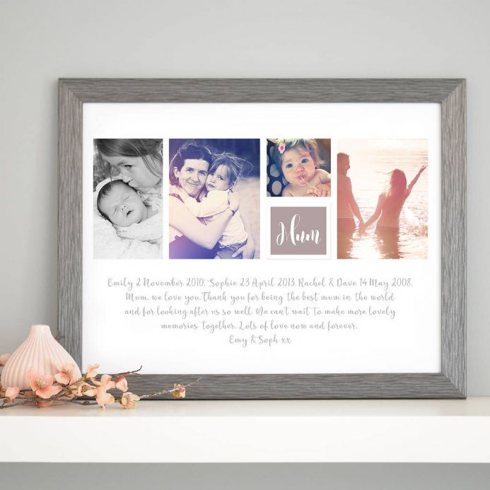 Personalised Photo Collage With Message Art